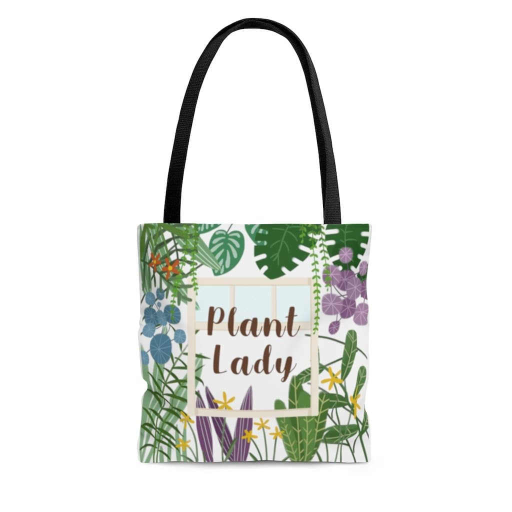 Bags Small Plant Lady - Colorful Design - All Over Print Tote Bag Plantspree