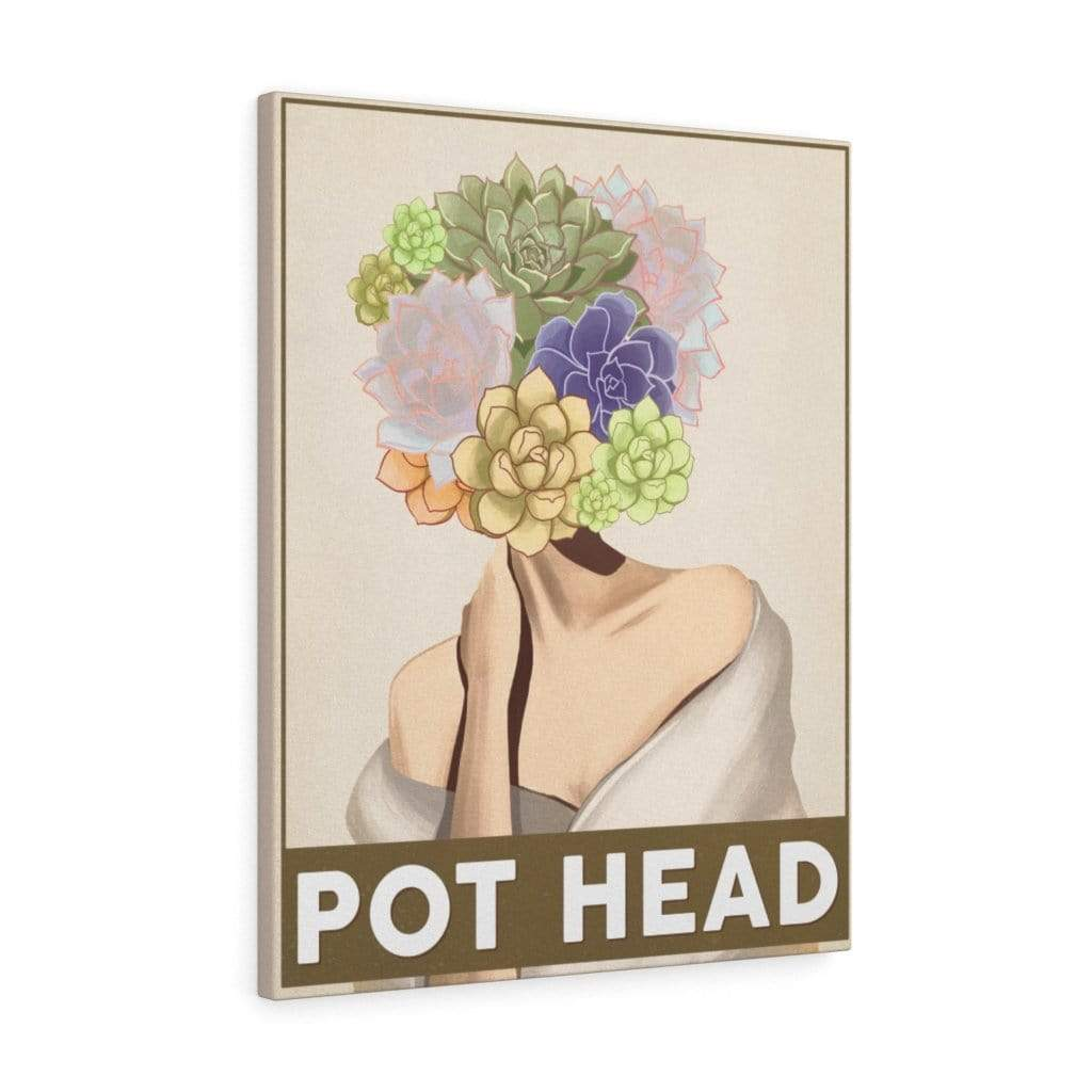 Canvas 24″ × 30″ / Premium Gallery Wraps (1.25″) Pot Head Succulents - HPF0354B06 Plantspree