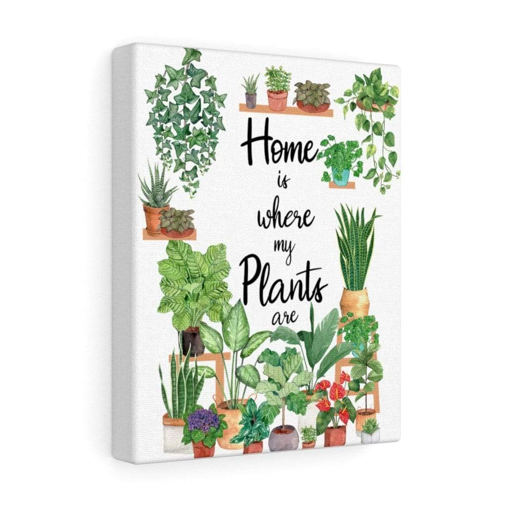 Canvas 8″ × 10″ / Premium Gallery Wraps (1.25″) Home Is Where My Plants Are - HPF0357B06 Plantspree