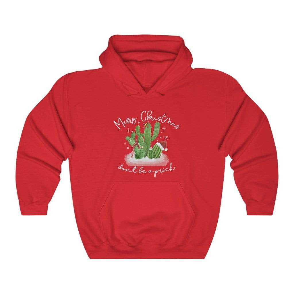 Hoodie Red / S Merry Christmas, Don't Be A Prick - Hoodie Plantspree
