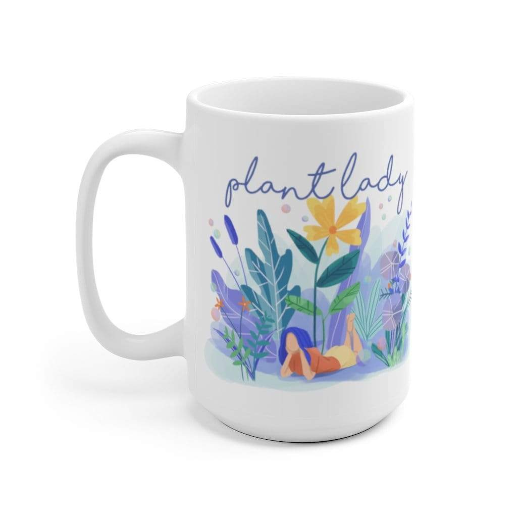Mug 15oz Plant Lady - Flat Design Artwork - Mug Plantspree