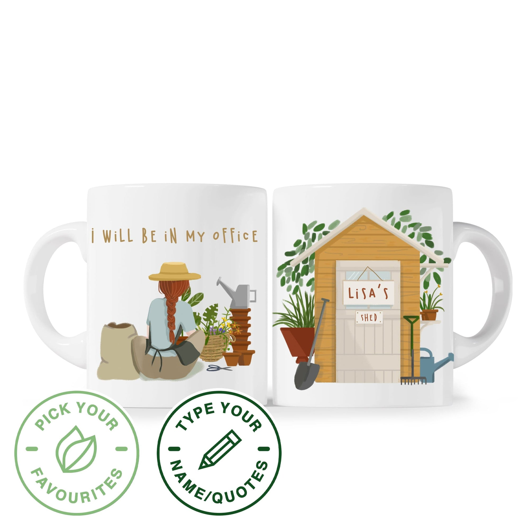 Mug I Will Be In My Office - Gardening - Personalized Mug Plantspree