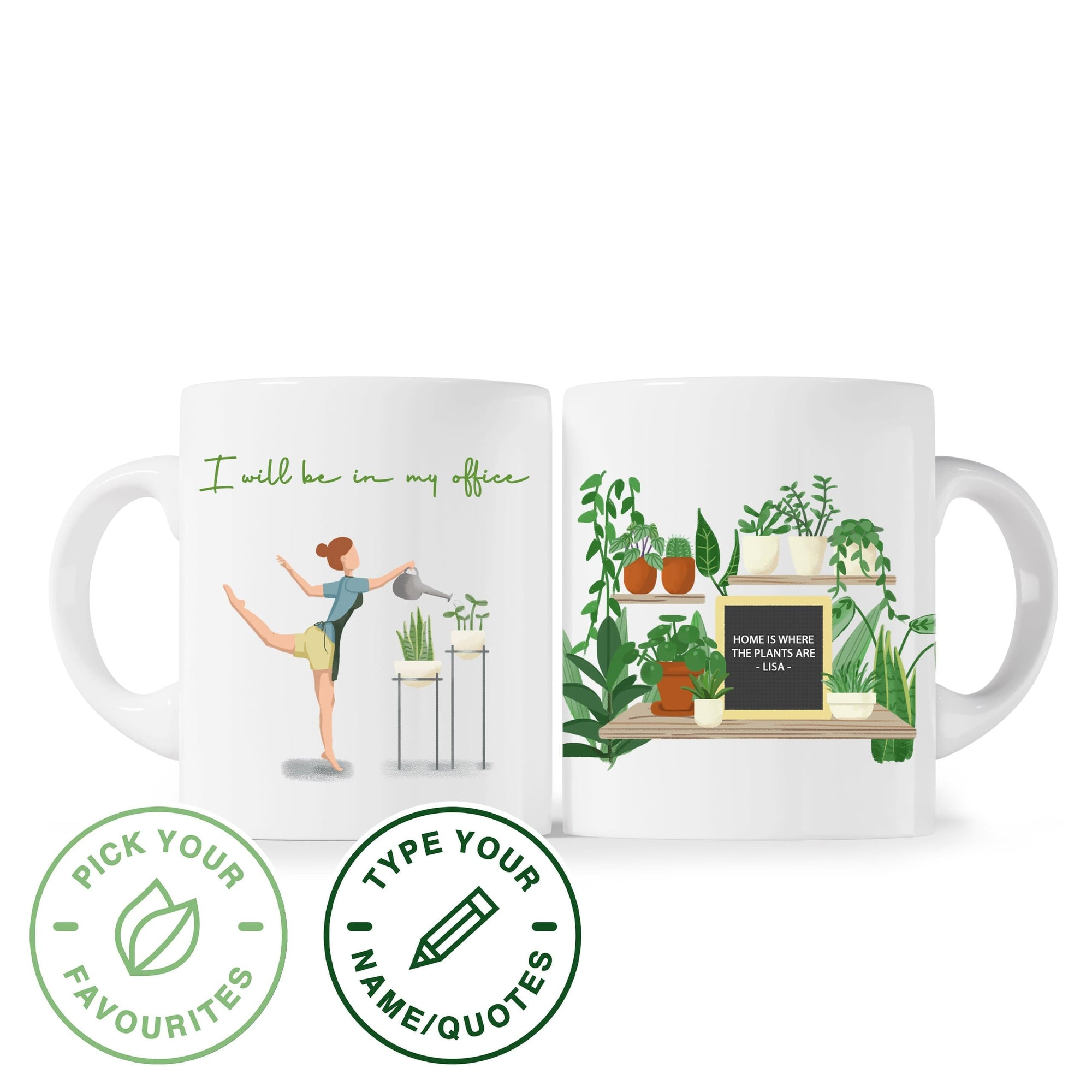 Mug I Will Be In My Office - Personalized Mug Plantspree
