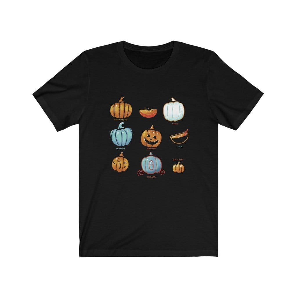 T-Shirt Black / XS Pumpkin (3D Version) - Tee Plantspree