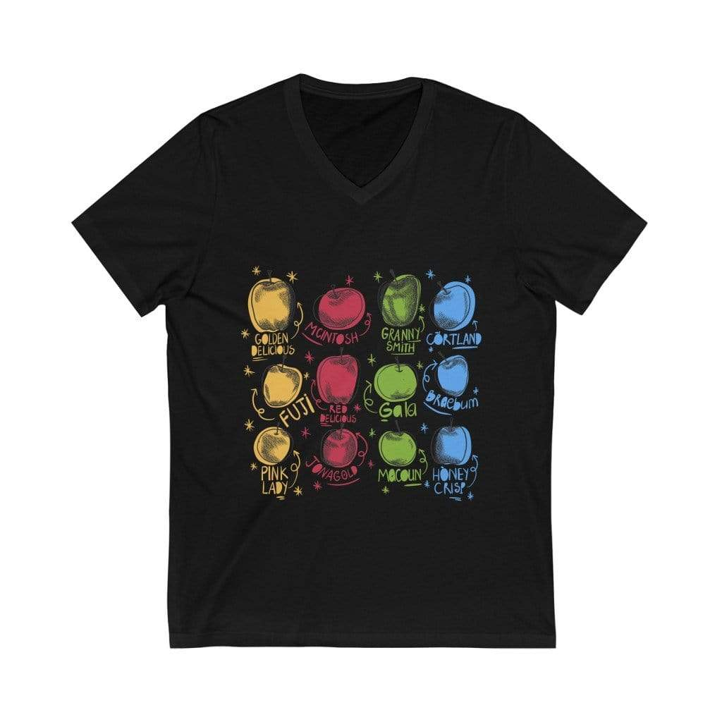 V-neck Black / L Apple Garden - V-Neck Tee Plantspree