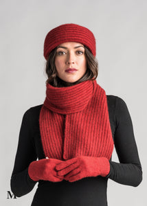 FINE RIB SCARF - Woolshed Gallery
