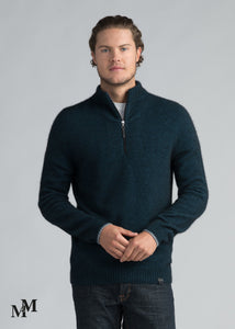 HALF ZIP WITH STRIPES - Woolshed Gallery