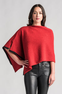 TWO TONE PONCHO - Woolshed Gallery
