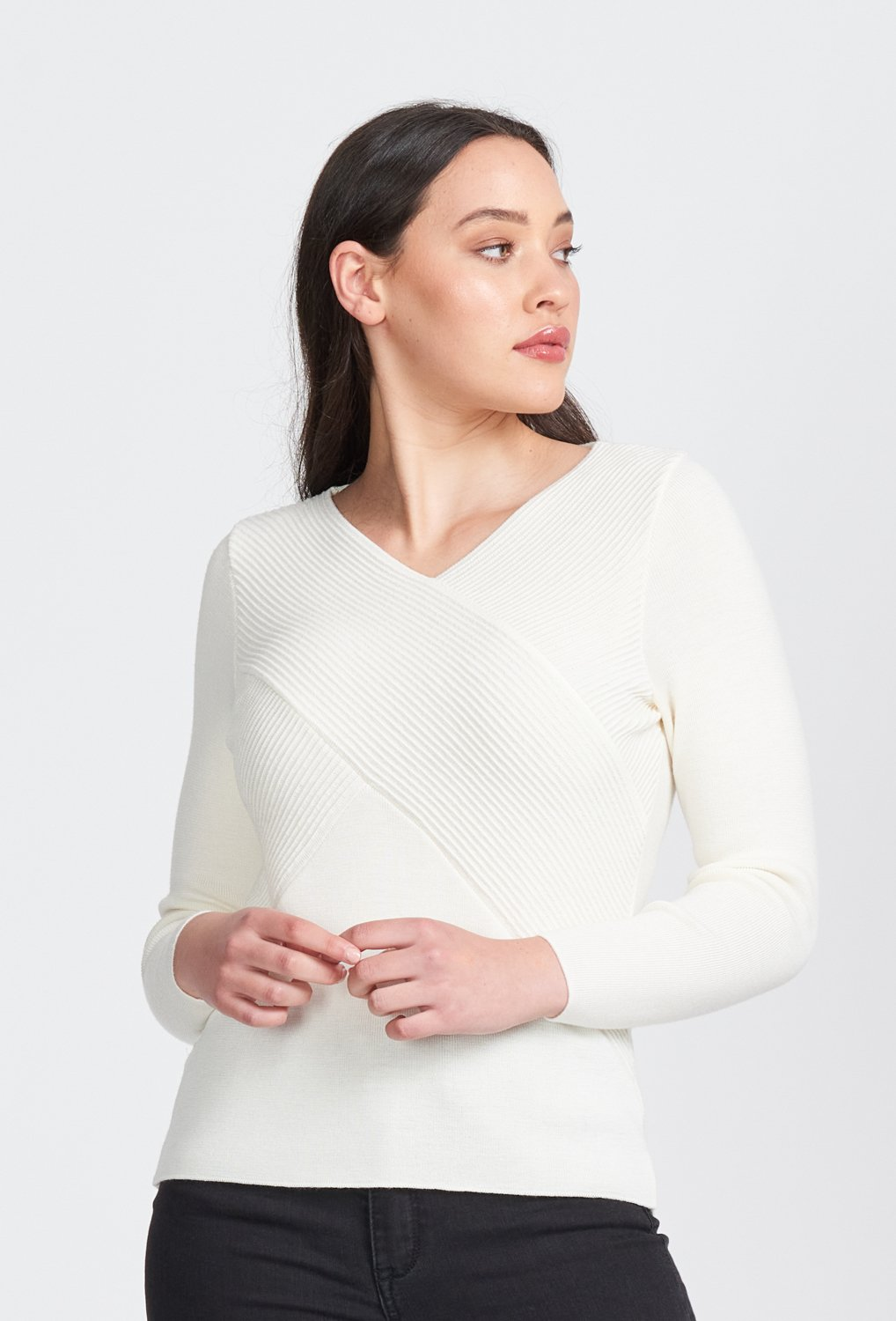 L/S RIB WRAP V - Woolshed Gallery