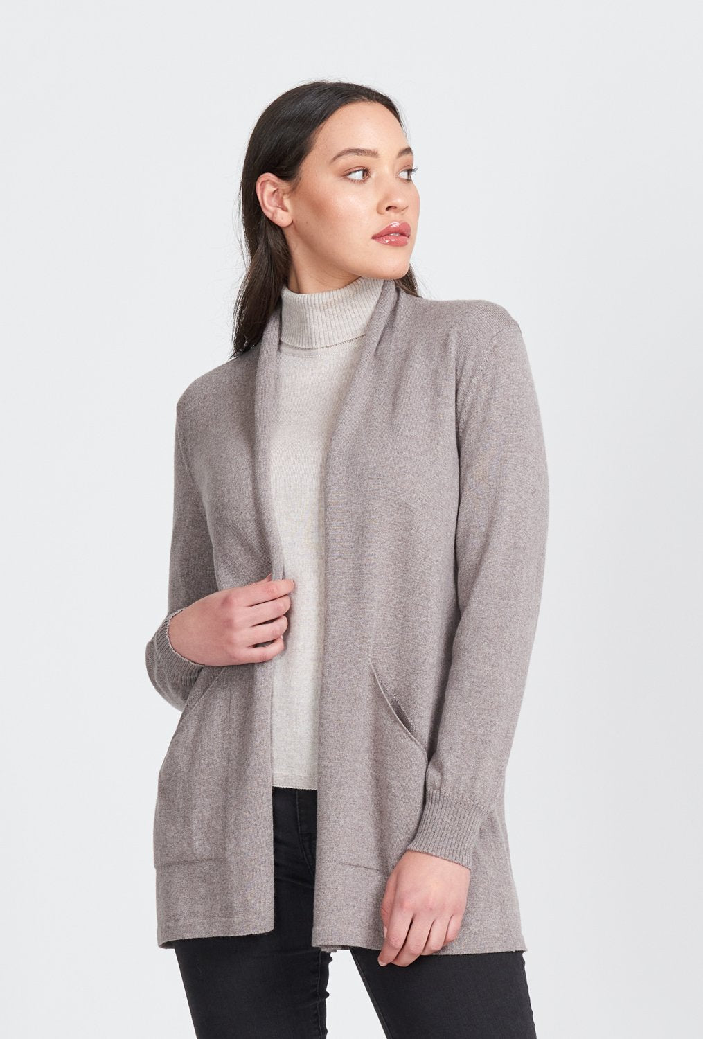 L/S OPEN FRONT LONG CARDIGAN - Woolshed Gallery