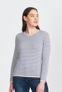 TUCK STITCH STRIPE JUMPER - Woolshed Gallery