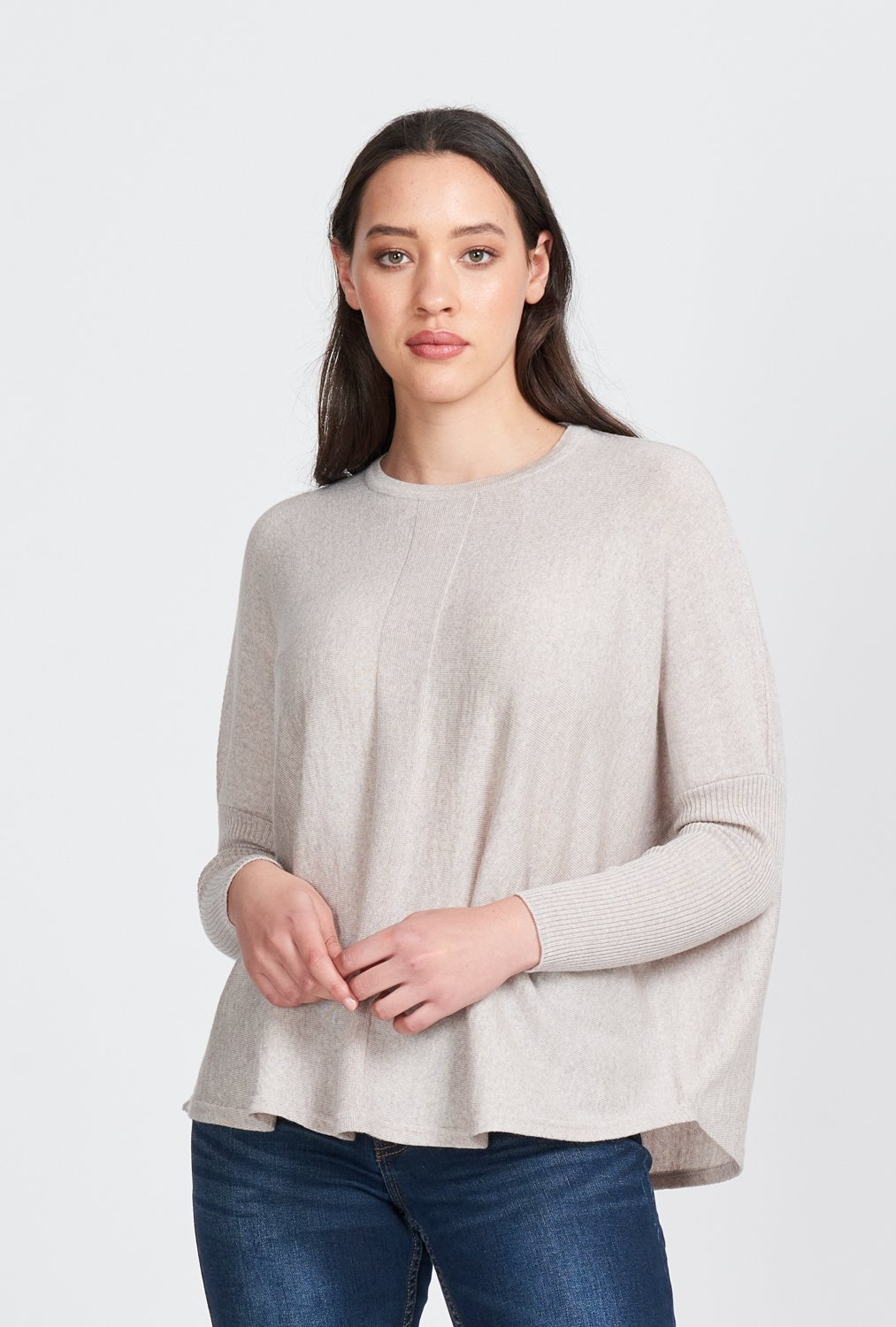 OVERSIZED RIB SLEEVE JUMPER - Woolshed Gallery