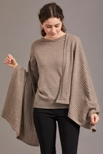 Load image into Gallery viewer, MERINO TEXTURED SHAWL