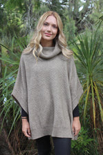 Load image into Gallery viewer, LUSH COWL NECK PONCHO - Woolshed Gallery