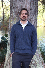 Load image into Gallery viewer, MEN'S ZIP COLLARED RIB JUMPER - Woolshed Gallery