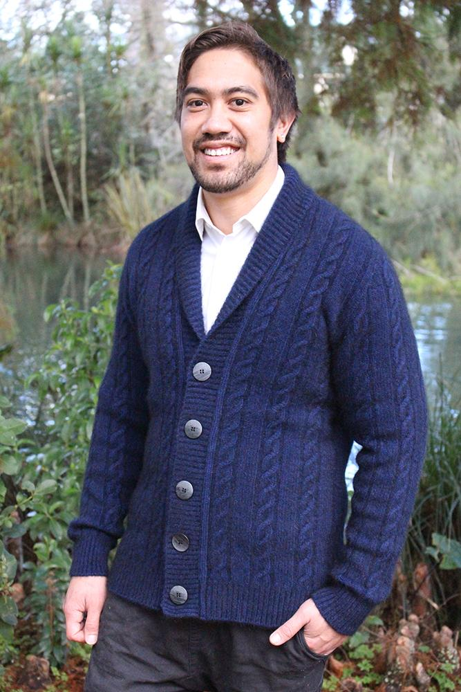 MEN'S CABLE BUTTON JACKET - Woolshed Gallery