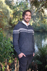 MEN'S STRIPED HOODIE - Woolshed Gallery