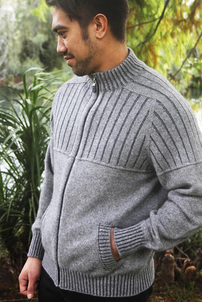 MEN'S FULL ZIP JACKET WITH POCKETS - Woolshed Gallery