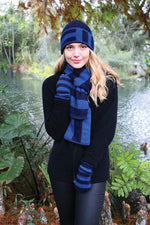 Load image into Gallery viewer, DIRECTIONAL STRIPE BEANIE