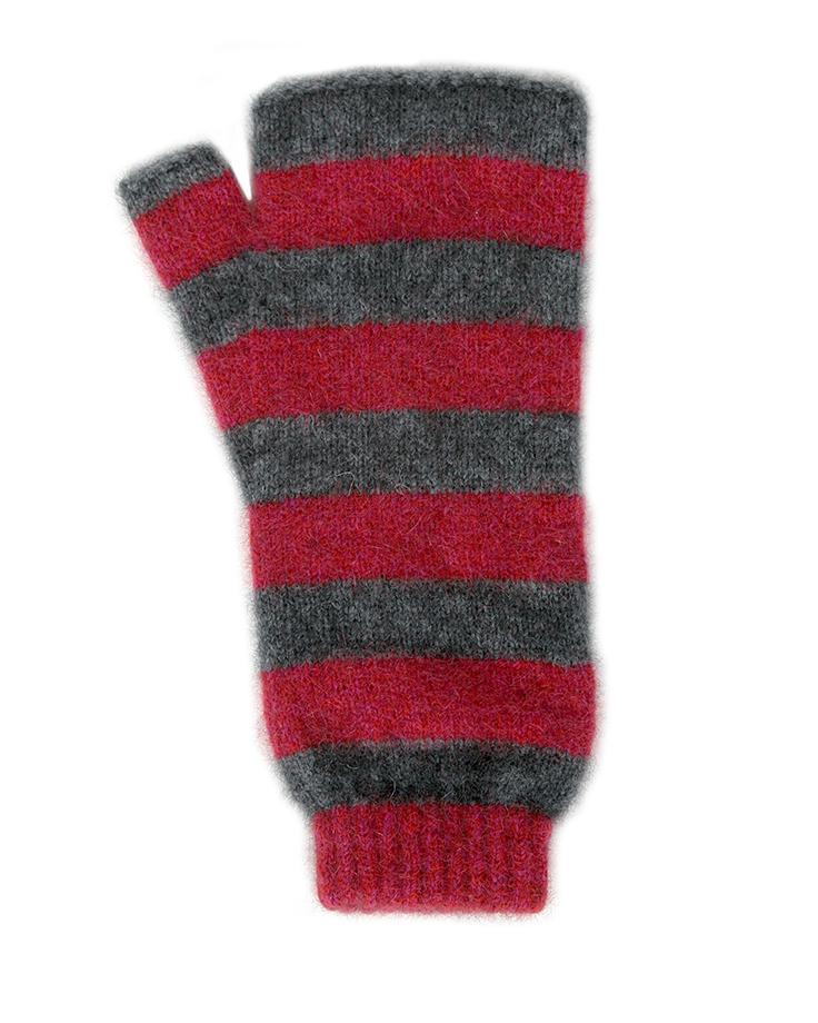DIRECTIONAL STRIPE MITTEN - Woolshed Gallery