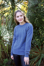 Load image into Gallery viewer, PLAIN CREW NECK JUMPER - Woolshed Gallery