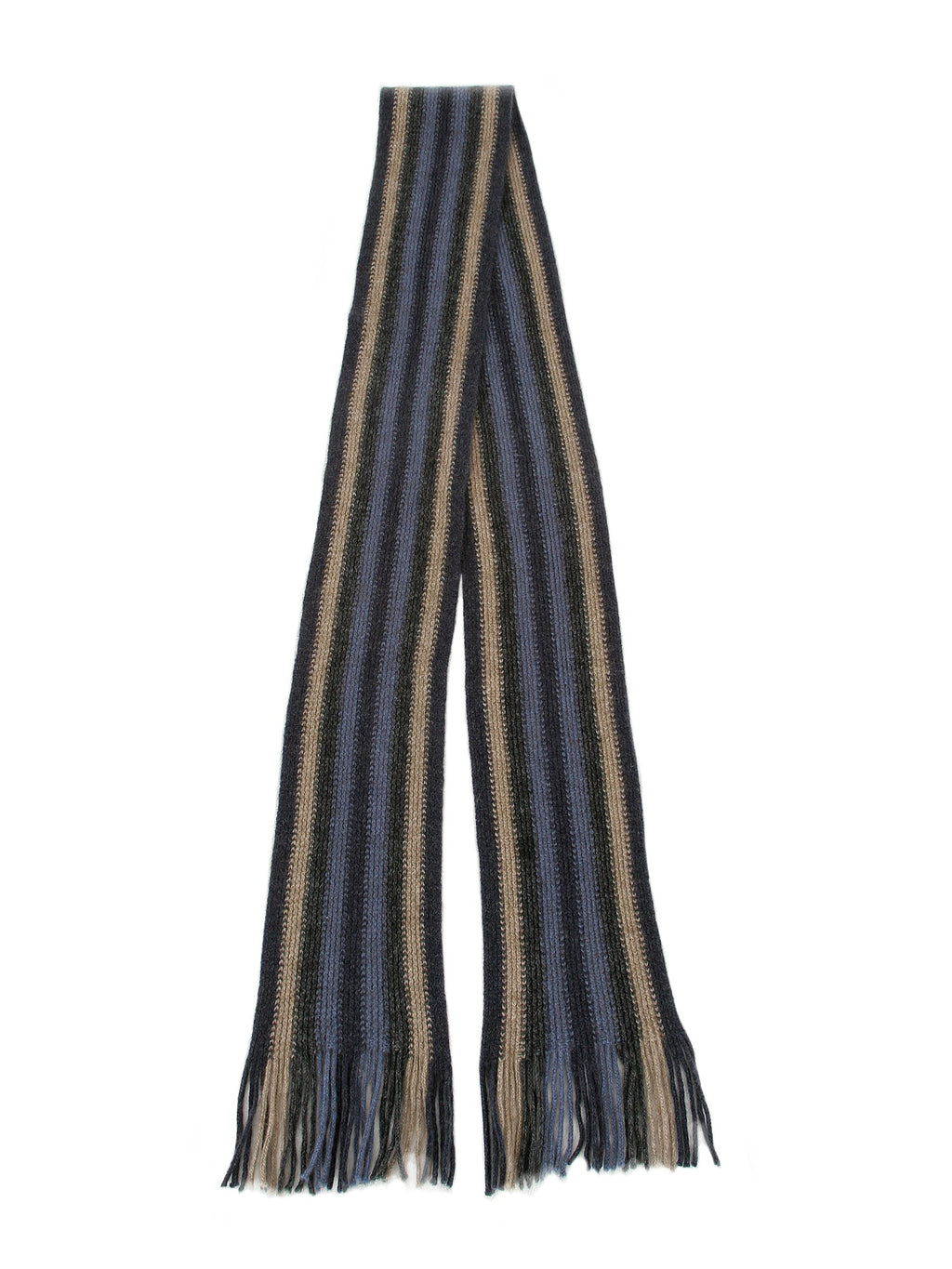 LONG VERTICAL STRIPED SCARF - Woolshed Gallery