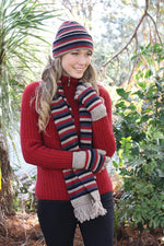 Load image into Gallery viewer, MULTI STRIPE BEANIE - Woolshed Gallery