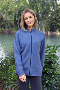 PLAIN ZIP CARDIGAN - Woolshed Gallery