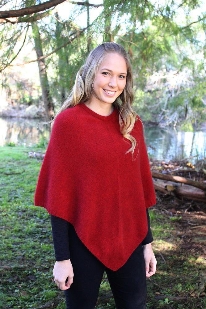 PLAIN PONCHO - Woolshed Gallery
