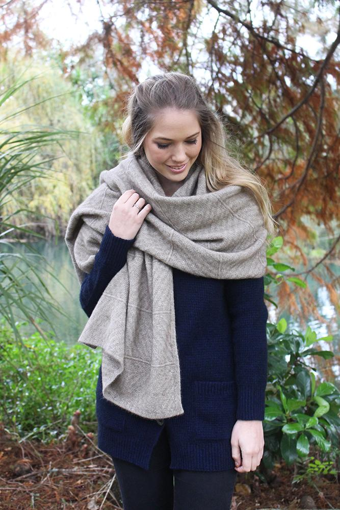 CHEVRON WRAP - Woolshed Gallery