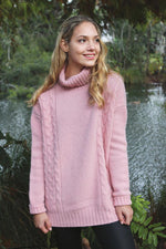 Load image into Gallery viewer, ALPACA CABLE TURTLE NECK JUMPER - Woolshed Gallery