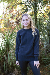 ALPACA PLAIN CREW NECK JUMPER