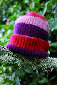 CHILD'S STRIPE RIB BEANIE - Woolshed Gallery
