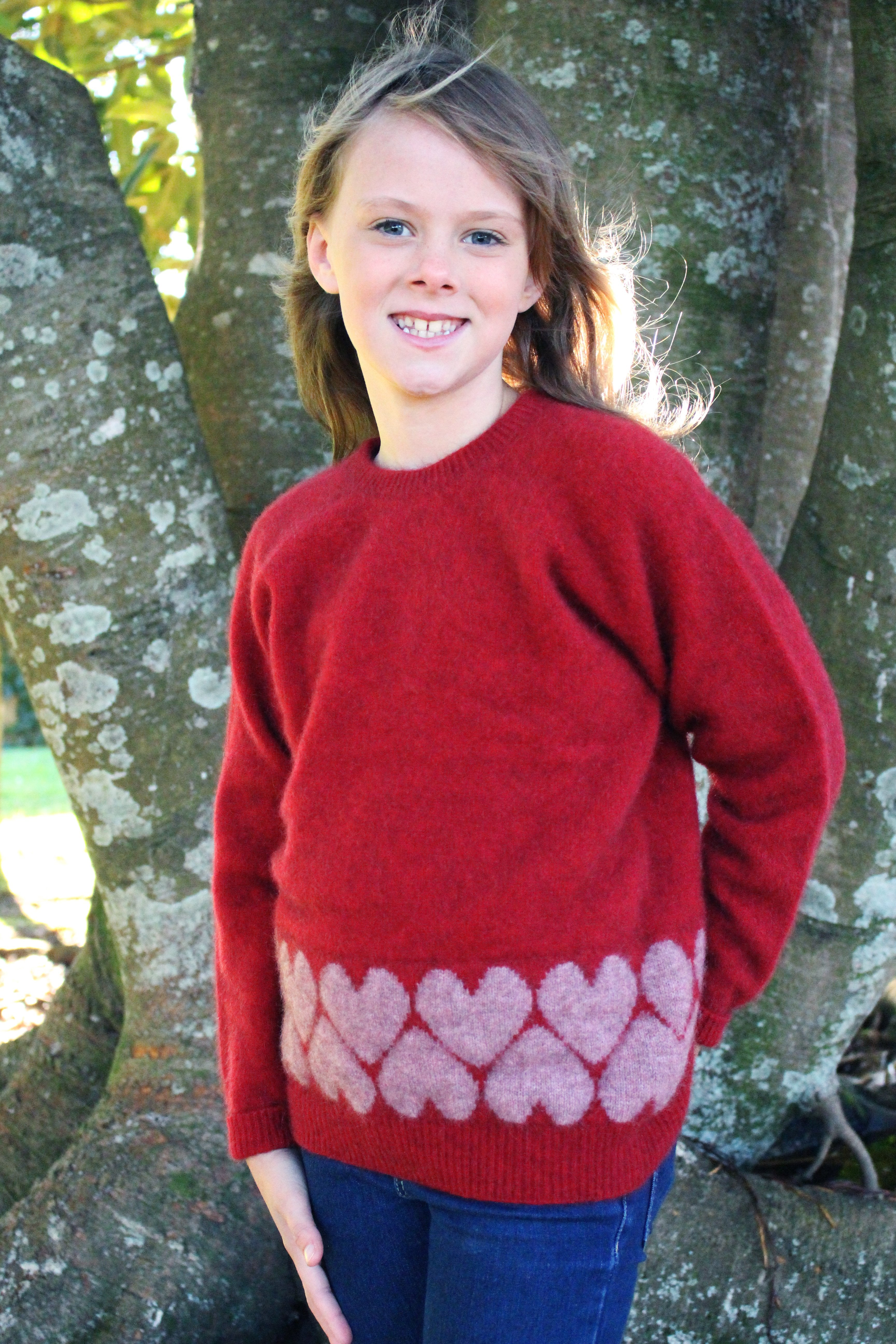 GIRL'S HEART JUMPER