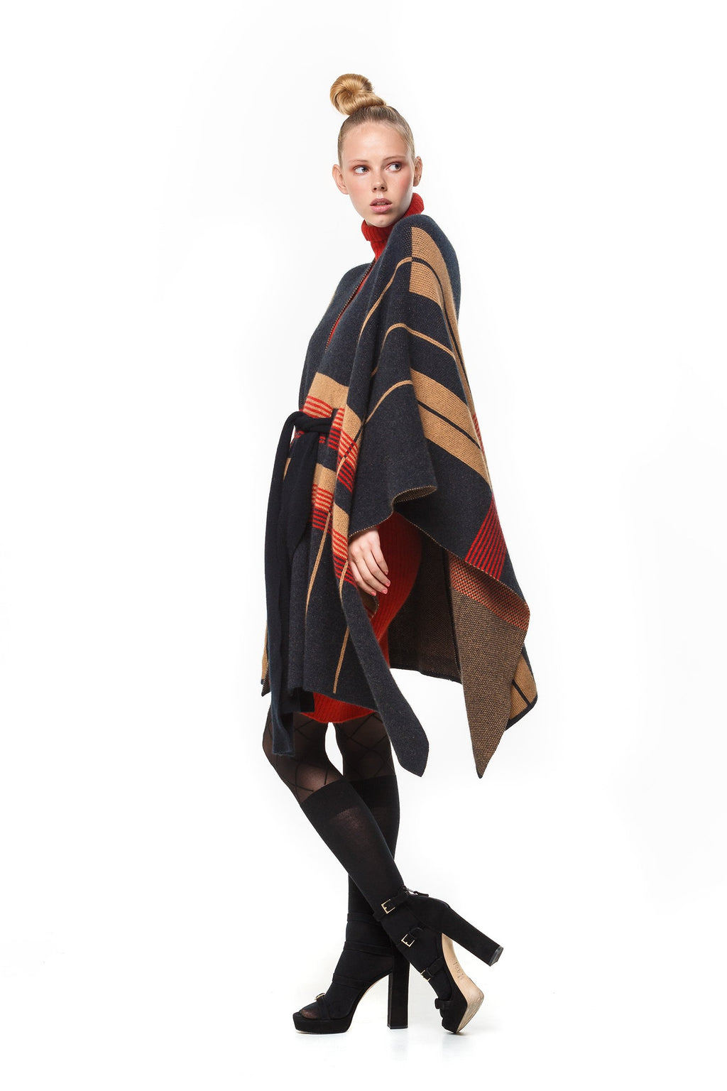 BELTED CAPE COAT - Woolshed Gallery