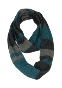 COLOUR BLOCK LOOP SCARF - Woolshed Gallery