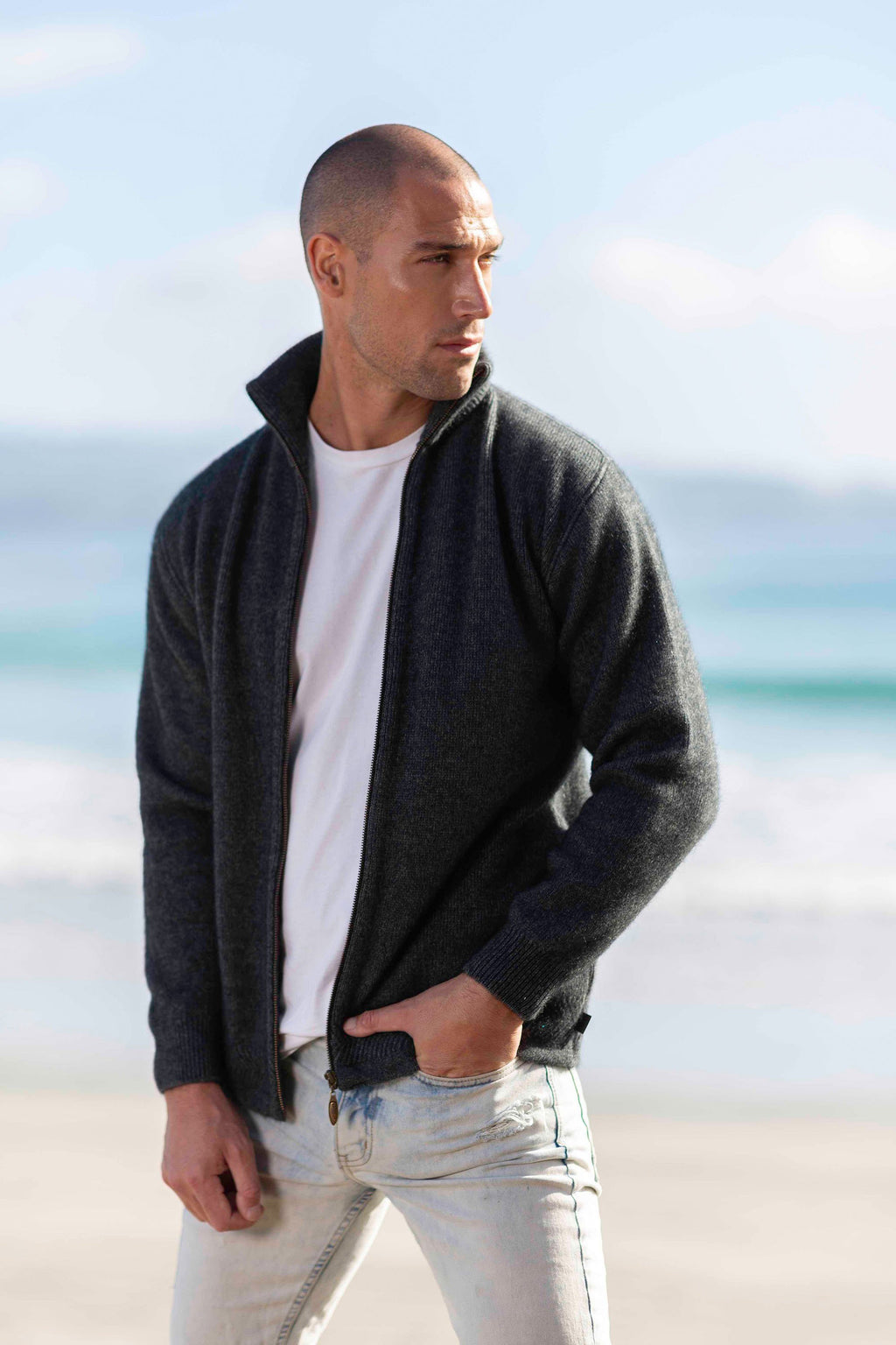 ZIP THROUGH JACKET - Woolshed Gallery