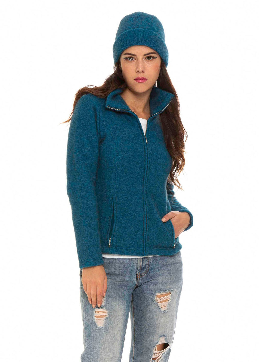 SHAPED ZIP JACKET - Woolshed Gallery