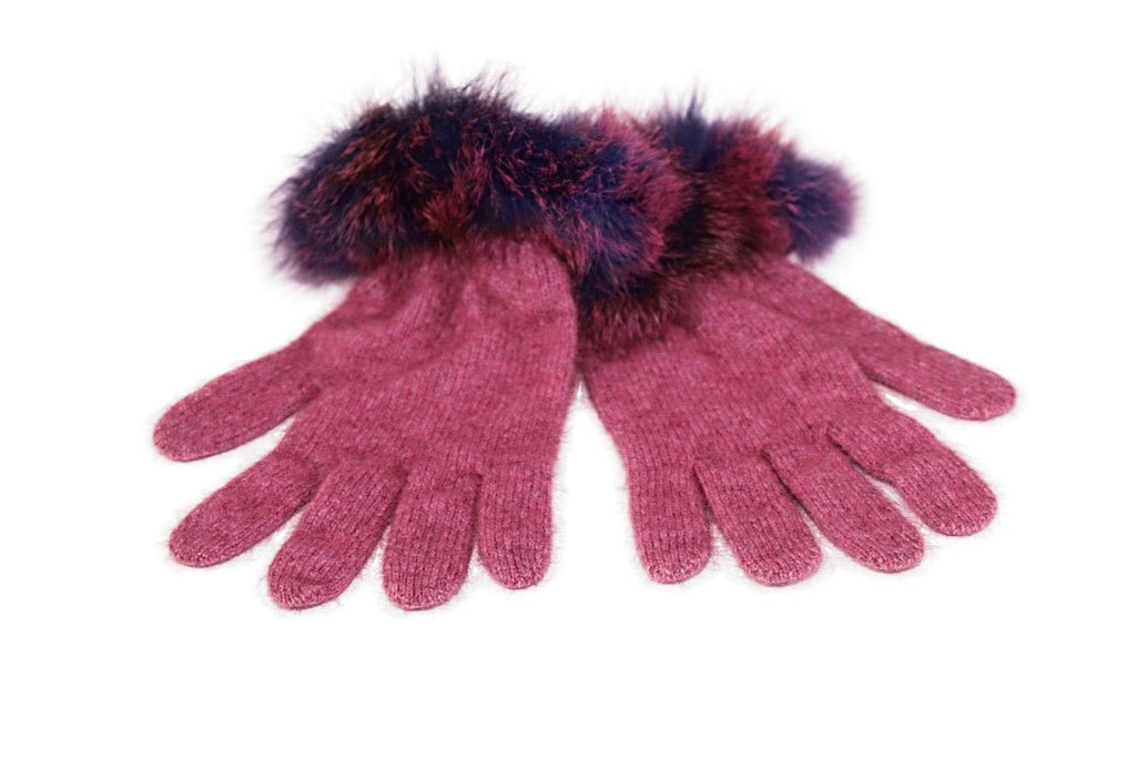 FUR TRIM GLOVES - Woolshed Gallery