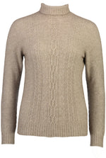 Load image into Gallery viewer, POLO NECK JERSEY WITH LACE DETAIL