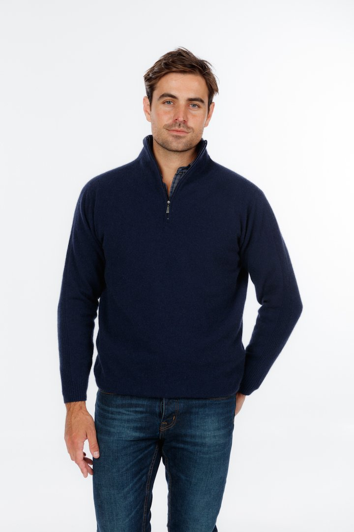 LIGHTWEIGHT HALF ZIP SWEATER - Woolshed Gallery