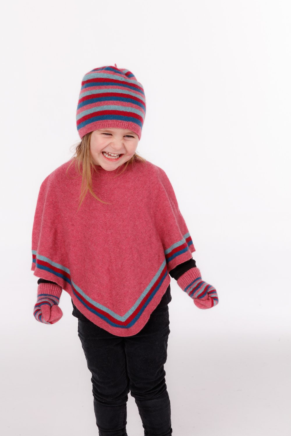 STRIPED PONCHO - Woolshed Gallery