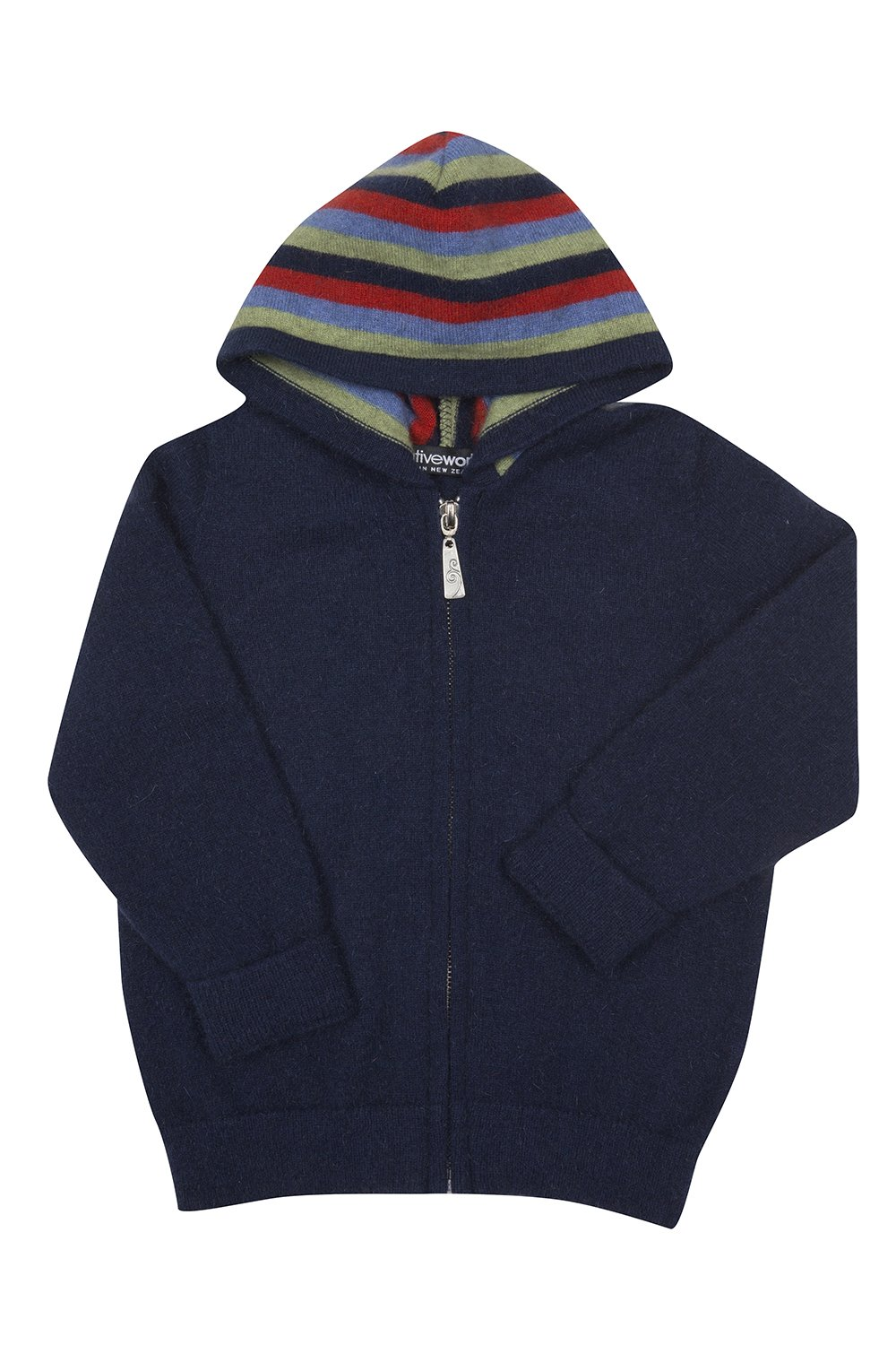 STRIPED ZIP HOODIE - Woolshed Gallery