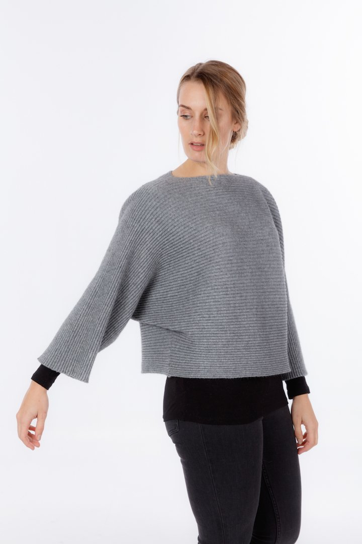 BATWING OVERSIZE SWEATER - Woolshed Gallery