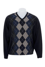 Load image into Gallery viewer, VEE NECK ARGYLE SWEATER - Woolshed Gallery