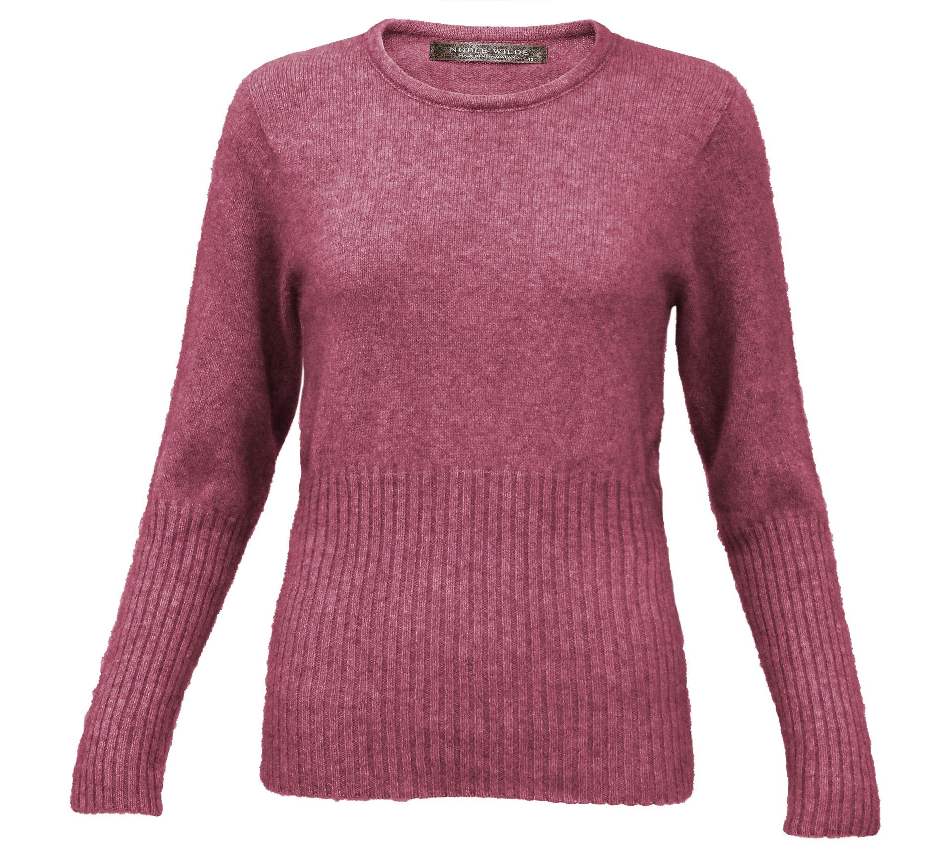 RIB CREW NECK - Woolshed Gallery