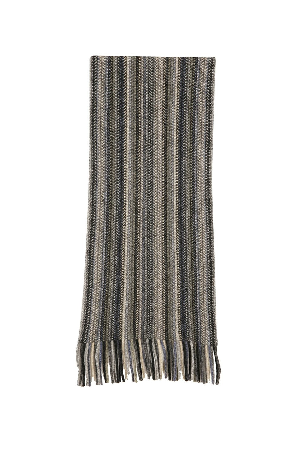 MULTI STRIPED SCARF - Woolshed Gallery