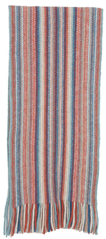 Load image into Gallery viewer, MULTI STRIPED SCARF - Woolshed Gallery