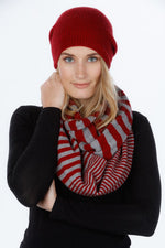 Load image into Gallery viewer, STRIPED ENDLESS SCARF - Woolshed Gallery