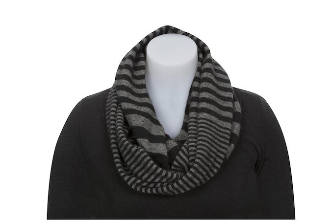 STRIPED ENDLESS SCARF - Woolshed Gallery